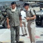 "John Wayne and Barton Mac Leod on the set of ""The Green Berets."" Credit: Personal collection of Barton Mac Leod"